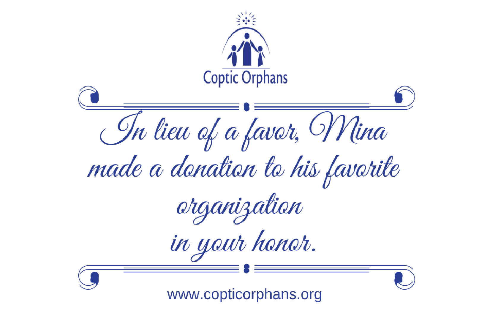 Occasion Giving | Coptic Orphans
