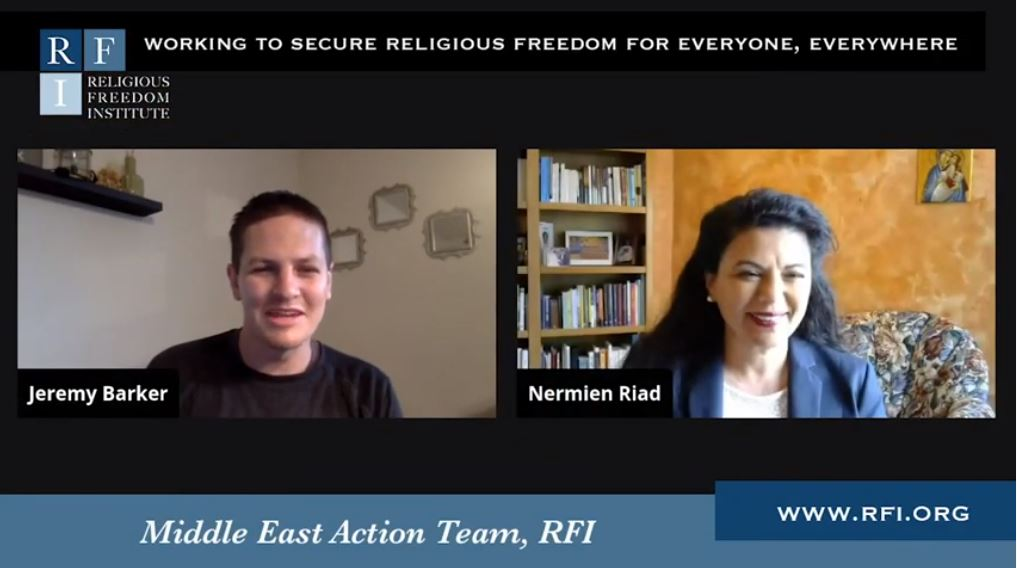 Watch Nermien Riad's Interview with Religious Freedom Institute on COVID-19's Impact in Egypt